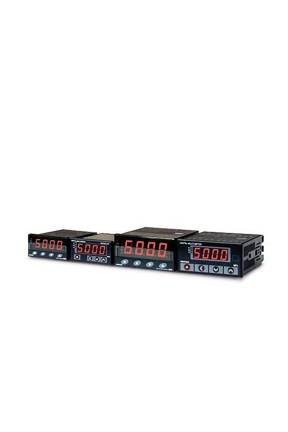 MP34AVNA Volmetro Indicador AC 4 dígitos de 96x48mm rango 5v, 50v, 500v  alim. de 100-240vca