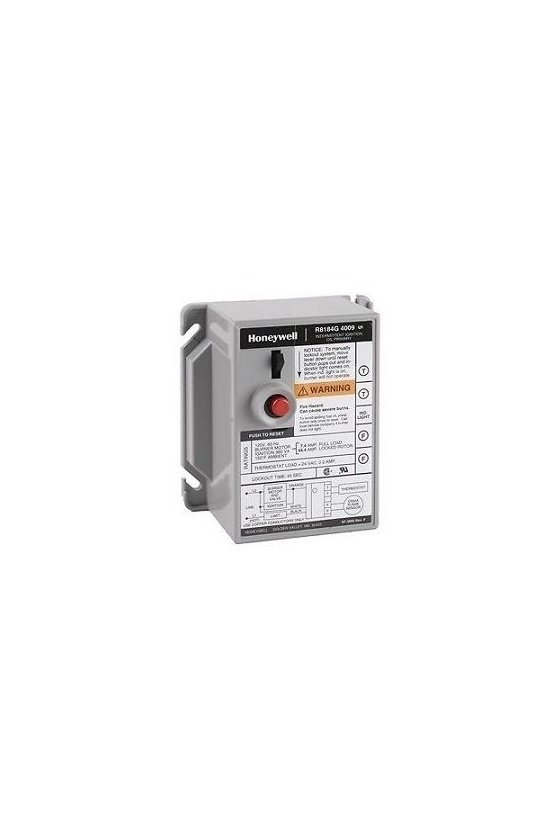 R8184G1328/B Control de quemador de aceite Protectorelay® con tiempo de seguridad de 15 segundos