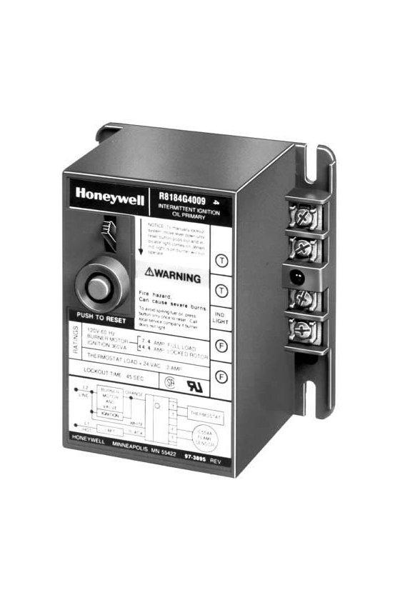 R8184G4090 Control de quemador de aceite Protectorelay® con temporización de seguridad de 15 segundos y salidas de alarma