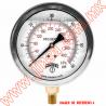 """PFQ1126 MANOMETRO CON GLICERINA CARATULA DE 1.5"""" CONECCION INFERIOR 1/8"""" NPT"""