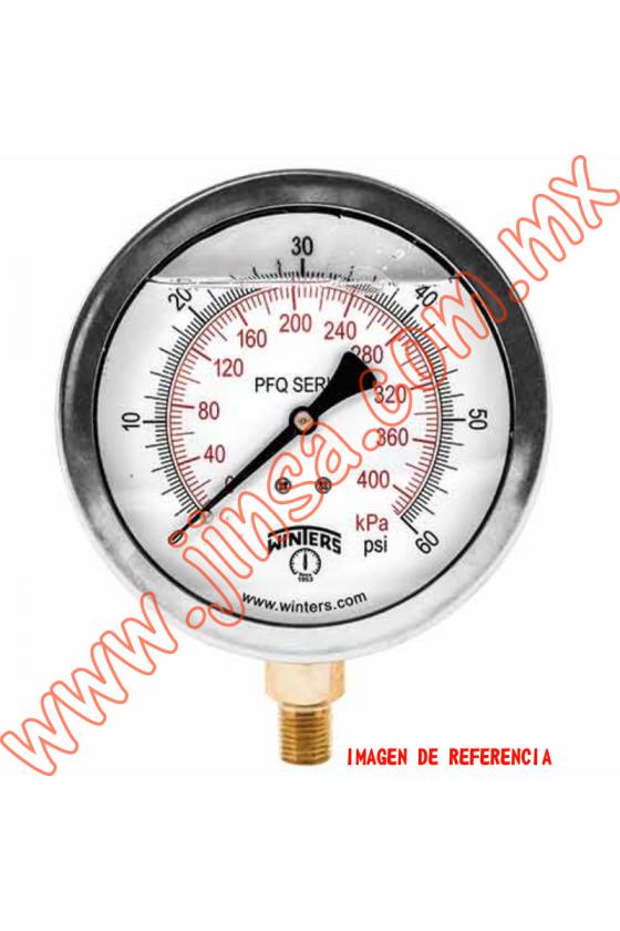 """PFQ1133 MANOMETRO CON GLICERINA CARATULA DE 1.5"""" CONECCION POSTERIOR 1/8"""" NPT"""