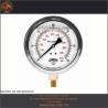 """PFQ1124 MANOMETRO CON GLICERINA CARATULA DE 1.5"""" CONECCION POSTERIOR 1/8"""" NPT"""