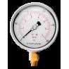 "1004001500 Manómetro glicerina Carat. 4"" DE PC. CNX de 1/4"" NPT INF. 1500 psi"
