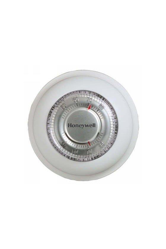 T87N1018 El termostato sin mercurio Round® w. Cambio manual para sistemas de una sola etapa.