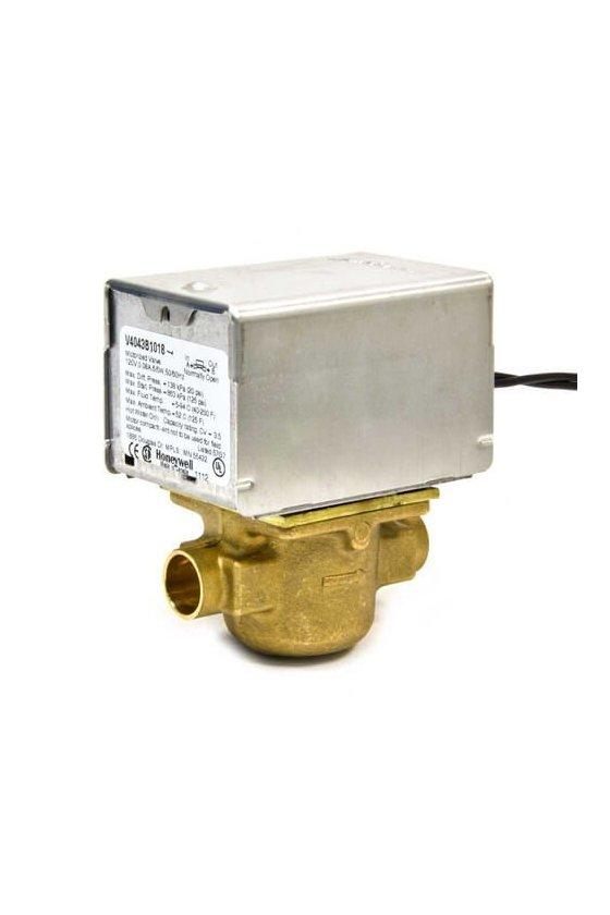 V4043B1018 Valvula motorizada 1/2 IN soldable 120VAC