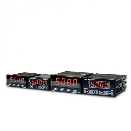 MP34AA1A  Amperímetro con 3 salidas (HI, GO, LO) Indicador AC 4 dígitos 96x48mm rango 50mA, 500mA, 5amp  alim. de 100-240vca
