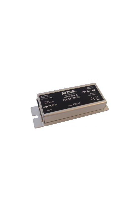 EE328 Ethernet & PoE Extender para 100m (CAT5E / CAT6)