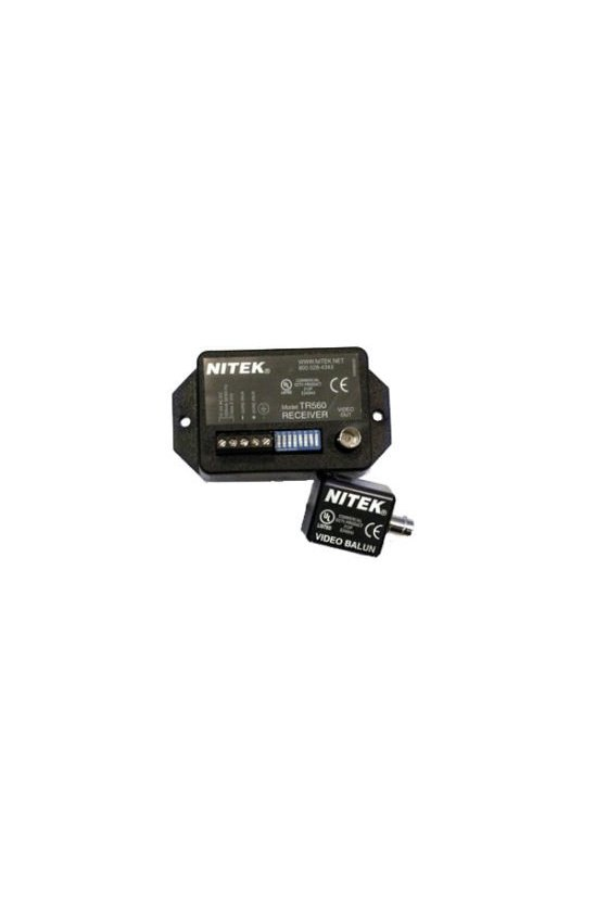 TS560 Sistema de transmisión de video en vivo para operación sobre par trenzado, cables Cat 2 de 100 pies A 3.000 pies