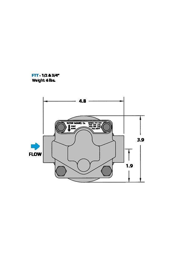 FTT65-13-N 3/4 TRAMPA FLOTADOR Y TERMOSTATO HIERRO DUCTIL 65 PSI DE 3/4