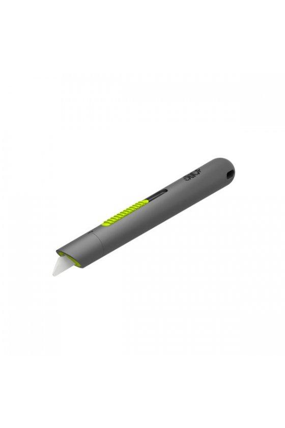 Cutter tipo lápiz retráctil color verde y hoja de cerámica modelo 10512