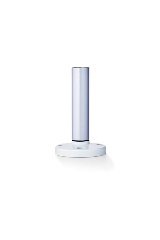 BMR Base con tubo de aluminio y pié de plástico 250mm base gris ref. 200 303 900