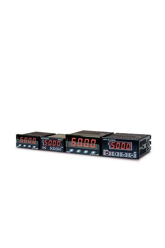 MP34DV11A Volmetro Indicador DC 4 digitos  95x48mm rango 50mv,5v,10v,50v,500vcd relay HI,GO,LO RS485 alim.100-240vca