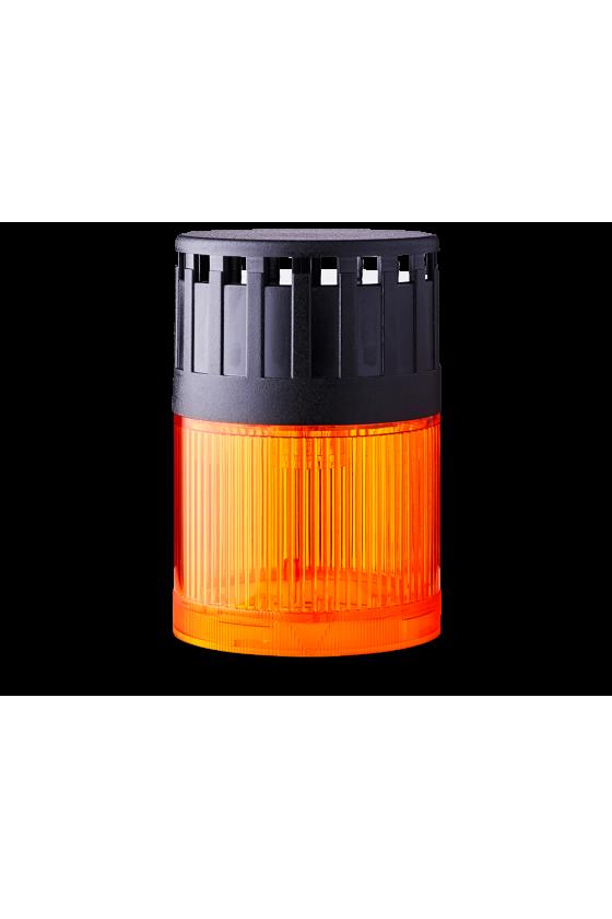 SLD Mod. luminoso-zumbador LED Fija (AB) base negra 24 V AC/DC Cont/Int 107 ó 90dB