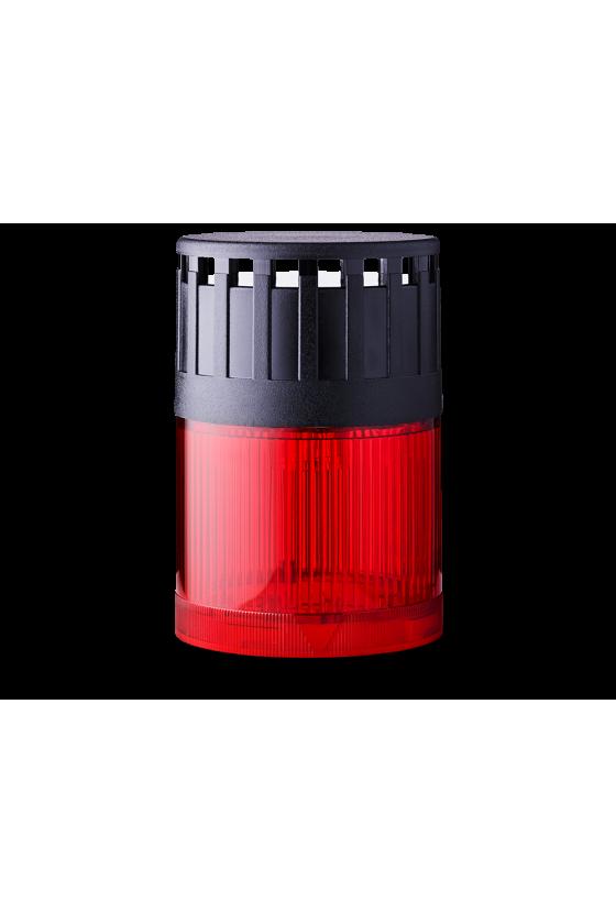 SLD Mod. luminoso-zumbador LED Fija (RO) base negra 12 V AC/DC Cont/Int 107 ó 90dB