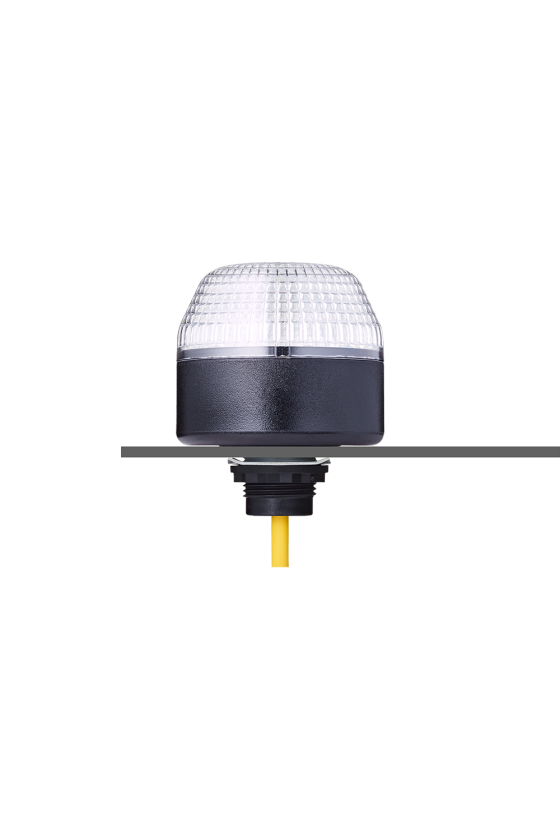 IML Ind. luminoso LED Fija tricolor (RO)-(AM)-(VE) base negra 24 V AC/DC