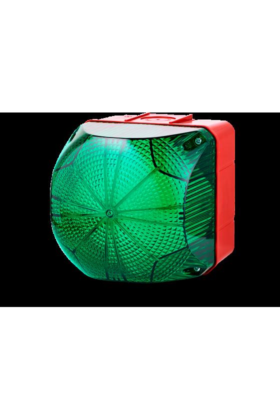 QDM Ind. luminosos 132mm luz Fija/Intermitente color verde 24-48 V AC/DC