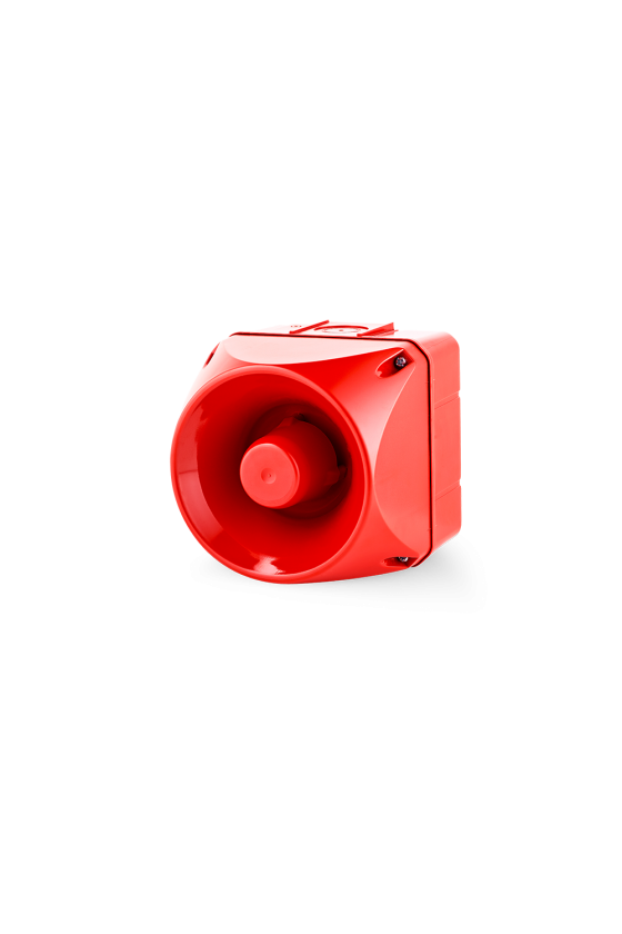 ASM Ind. multitono de 32 tonos base roja 24-48V AC/DC Multitono 113dB Tamaño 2