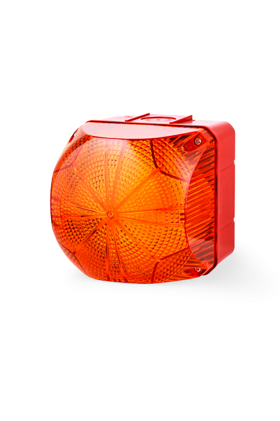 QDL Ind. luminosos 184mm luz Fija/Intermitente color ambar 24-48 V AC/DC, Tamño 3