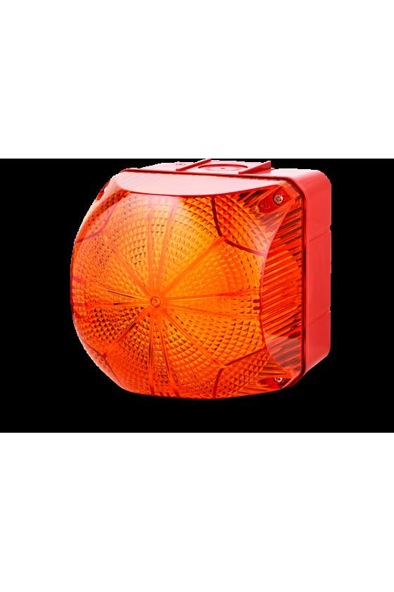 QDX Ind. luminosos 228mm LED luz Fija/Intmitente color ambar 110-240 V AC/DC