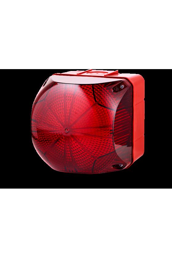 QDX Ind. luminosos 228mm LED luz Fija/Intmitente color rojo 110-240 V AC/DC, Tamaño 4