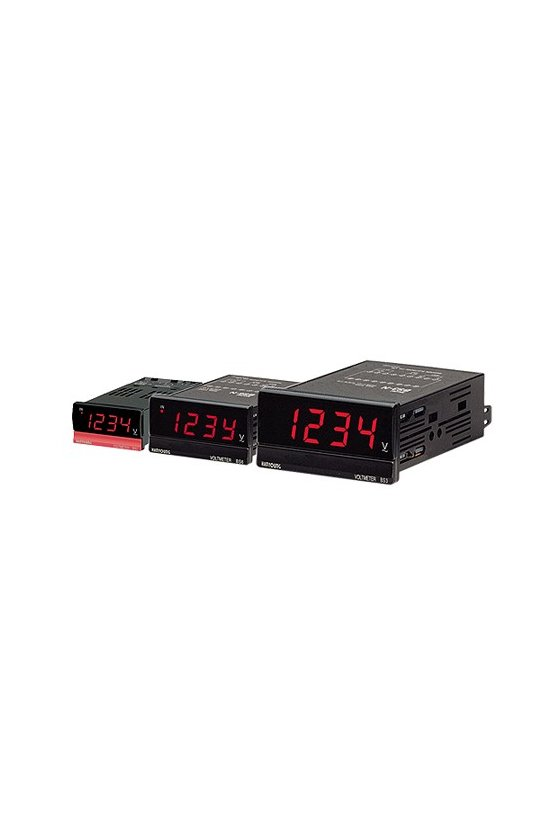 BS3ND206 amperímetro Indicador DC 96X48mm 4 dígitos rango .1-199.9Acd alim. de 110-220vca