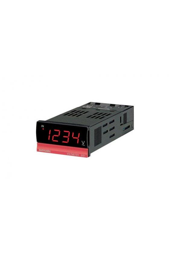 Amperimetro indicador AC 96x96mm 4 digitos rango 50mA alim 110-220vca