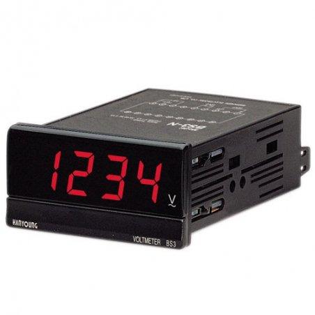 Amperímetro Indicador DC 96X48mm 4 dígitos rango 50mA de 110-220vca