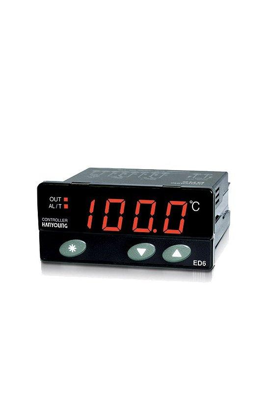 Control de temperatura digital 77x35mm control ON/OFF entrada4-20mA salida a relevador alarma  voltaje de alim. 100-240vca