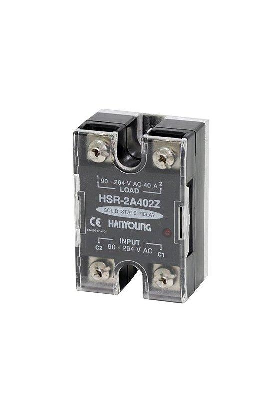 Relevador  de estado solido  44x60mm  entrada 90-264vca carga  70amp de 90-480vca