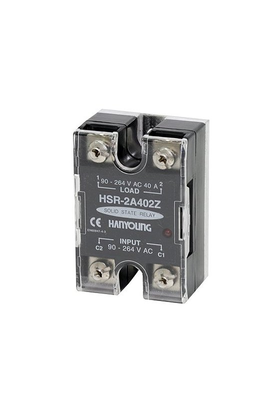 Relevador de estado solido  44x64mm entrada 4-32vcd  carga 10amp de 90-264vca