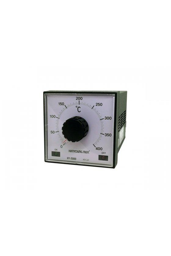 Control de temperatura análogo 0-400ºC  96x96mm entrada J salida Relay alim. 110 -220vca