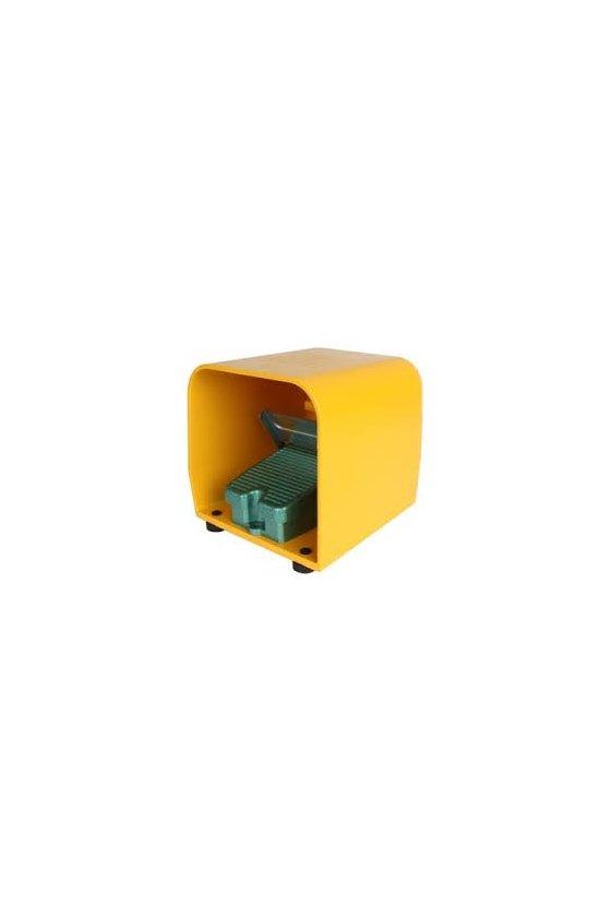 HY-104 Interruptor de pedal  con cubierta en aluminio 1 NA+1NC 10 amp  250 vca   160x210x150 mm