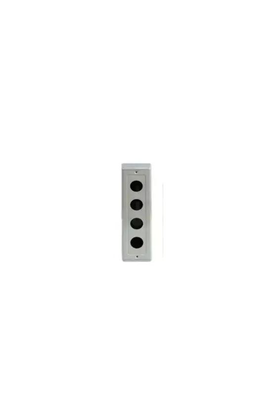 Caja metalica 4 hole  para boton de 25mm
