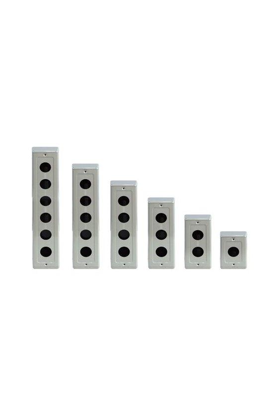 Caja metalica 6 hole  para boton de 25mm