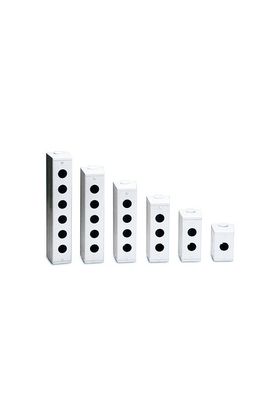 Caja metalica 3 hole  para boton de 30mm