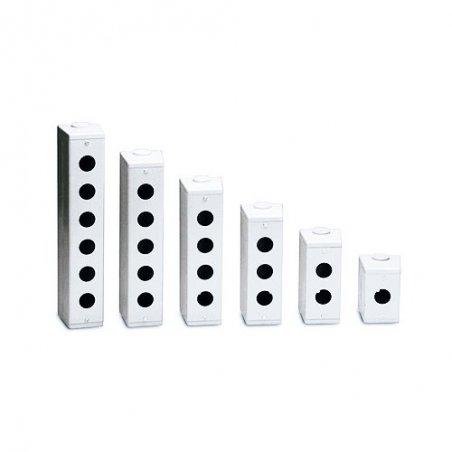 Caja metalica 6 hole  para boton de 30mm