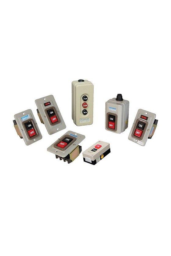 Interruptor trifásico con botones ON-OFF 3P 15A 250vca (con gabinete)