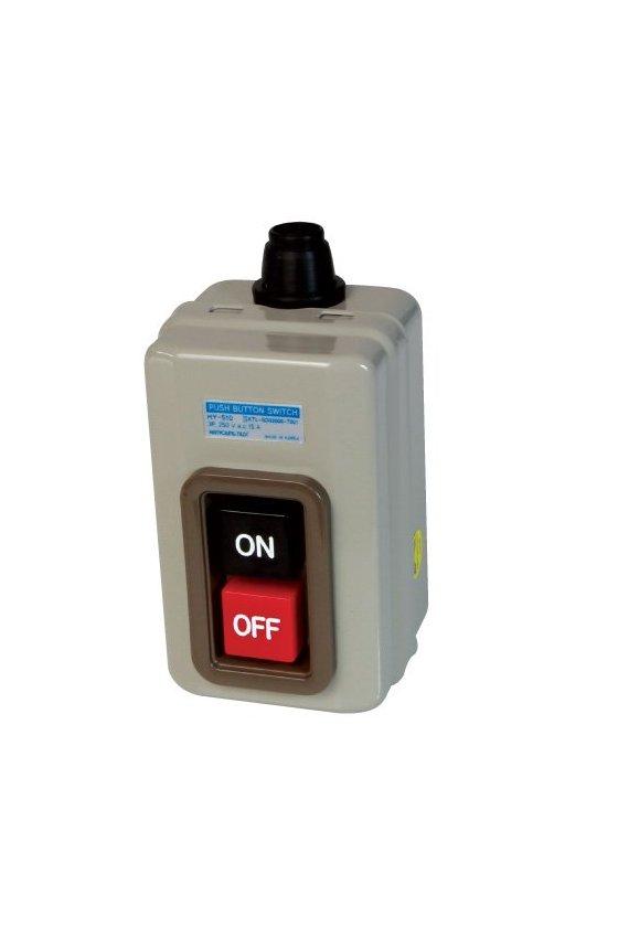 HY510 Interruptor trifásico con botones ON-OFF 3P 15A 250vca (con gabinete)