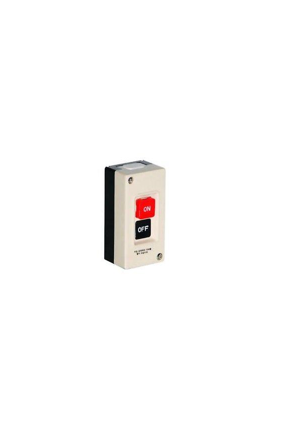 Interruptor trifásico con botones  ON-OFF 15A 250vca con caja plastica