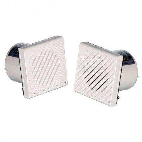 Alarma de 4 tonos cuadrada 80x80mm 98 dB (1m distancia)12-24vcd