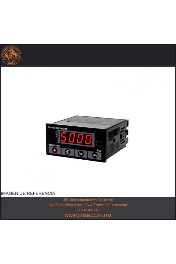 HLP1 Tacómetro Indicador programable 48x25mm 8 dígitos Rango .1-10000rpm input de 5-30vcd, 3-240vca