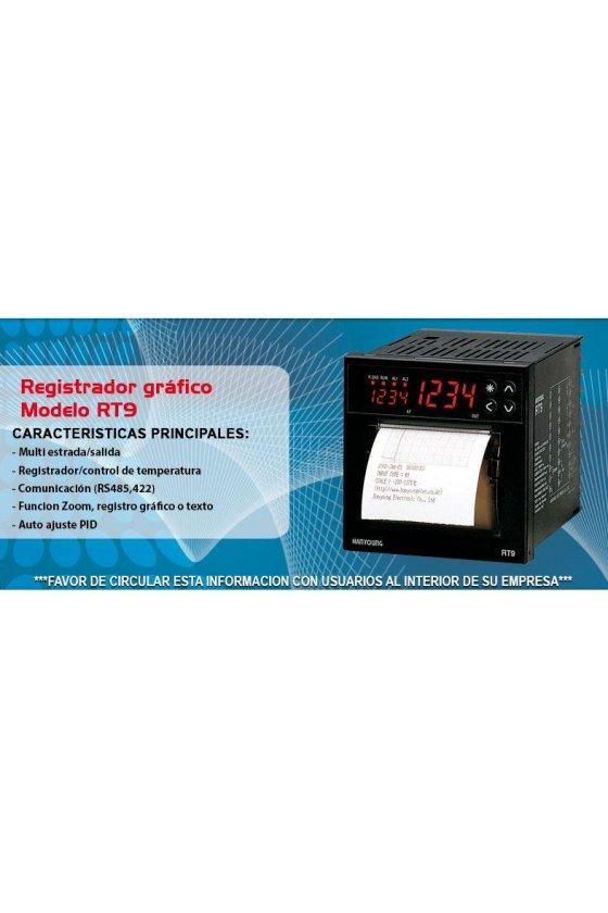 RT9N112 Registrador de temperatura y control  digital  96x96mm entrada universal de 1-5vcd, 0-10vcd,4-20mA salida Relay