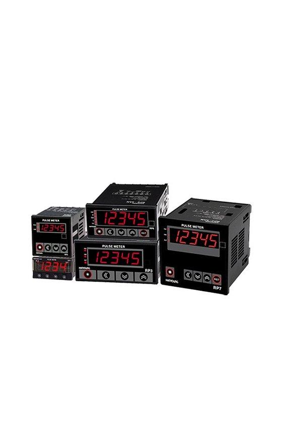 RP35A1 Tacómetro Predeterminado 96x48mm 5 dígitos input NPN-PNP en 10khz  salida 3 Relay NA 100-240vca
