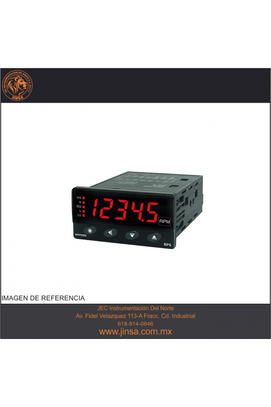 BP65A1 Tacómetro Indicador 72x36mm 5 dígitos input NPN-PNP en 50khz salida 3 Relay de  100-240vca