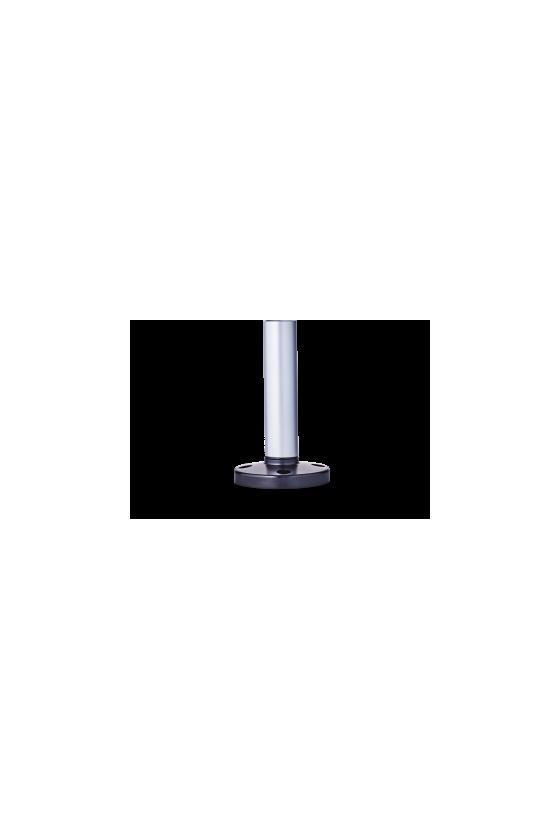 200 703 900 BMR Base con tubo de aluminio y pié de plástico 250mm base negra