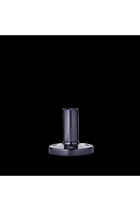 200 712 900 BSR Base con tubo de acero inox. y pié de zinc 100mm base negra