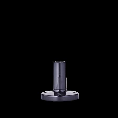 200 714 900 BSR Base con tubo de acero inox. y pié de zinc 400mm base negra