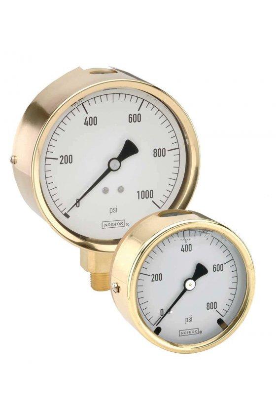 "403103000 Manómetro 4"" cuerpo de bronce 1/4"" NPT posterior 3000 psi"