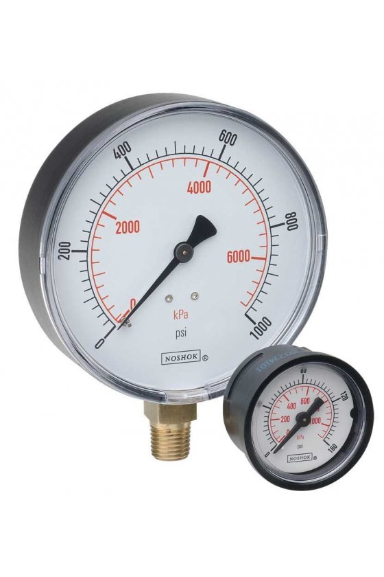 "20100160 Manómetro 2"" caja de ABS 1/4"" NPT inferior 160 psi-kg/cm2"