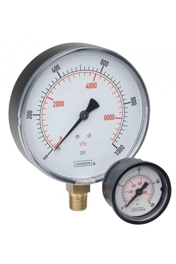 """2010030VACKPA Vacuómetro 2"""" caja de ABS 1/4"""" NPT inferior 30 Vac inHg-kPa"""